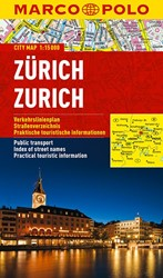 Marco Polo Zurich Cityplan -Stadsplattegrond 1:15 000