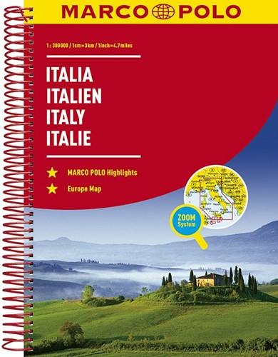 Italie Wegenatlas Marco Polo -Wegenatlas 1:300 000