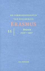 DE CORRESPONDENIE VAN DESIDERIUS ERASMUS -BRIEVEN 1535-1657