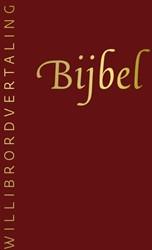 Bijbel Willibrordvertaling -in rood leer, met goudsnede, d uimgrepen en rits, in koker