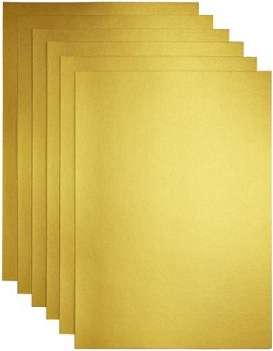 KOPIEERPAPIER PAPICOLOR A4 200GR GOUD -KOPIEERPAPIER GEKLEURD 601339 Kopieerpapier motif a4 160gr grasgroen