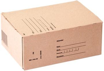 POSTPAKKET BUDGET 2 200X140X80MM BRUIN -VERZENDDOZEN 10402