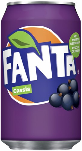 FRISDRANK FANTA CASSIS BLIKJE 0.33L -KOUDE DRANKEN 380884 FRISDRANK FANTA CASSIS BLIKJE 0.33L
