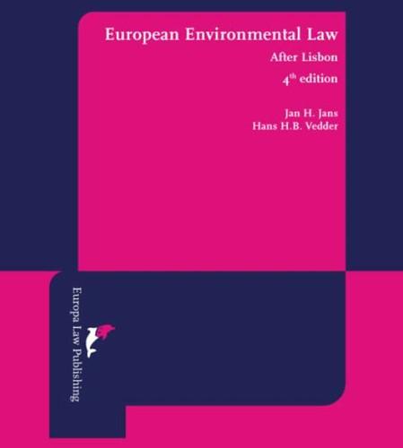 European environmental law -after Lisbon Jans, Jan H.