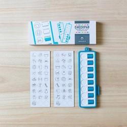 Checkpad blauw -dagplanner voor taakjes in och tend en avond Essen, Rianne van