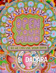 Limited Art Books Dadara -open your mind - so we can use your data Rozenberg, Daniel