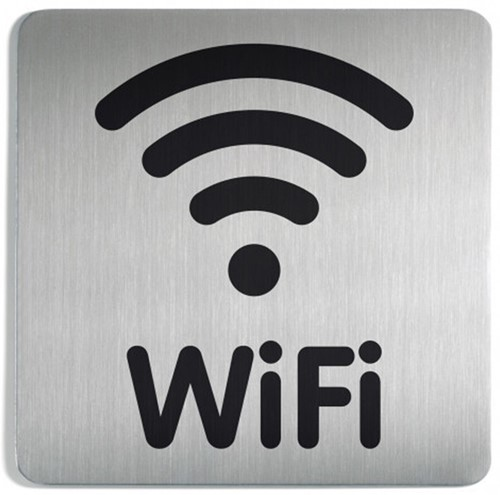INFOBORD PICTOGRAM DURABLE WIFI -PICTOGRAMMEN 478623 VIERKANT 150MM