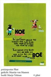 Poeziekaart Koe -set van 10 kaarten met envelop pen Maanen, Maartje van