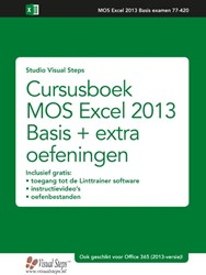 Cursusboek MOS Excel 2016 en 2013 + oefe Studio Visual Steps