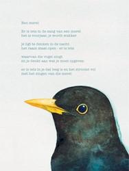 Poezieposter Plint Rutger Kopland ' -Een merel Er is iets in de zan g van een merel het is voorjaa Kopland, Rutger