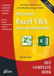 Het complete boek Excel VBA voor profess Groot, Wim de