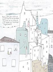 Poezieposter Plint Sarah Pink 'Stad -Stad 'Heb jij dan geen st je hoofd?'had ze hem gevr Pink, Sarah