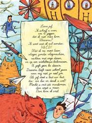Poezieposter Plint Linda Vogelesang &apo -Lieve juf, Ik schrijf u even o m te zeggen dat ik niet meer k Vogelesang, Linda