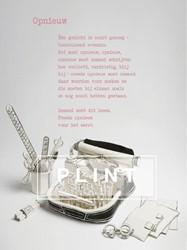 Plint Poezieposter 'Opnieuw' K Spiering, Kees