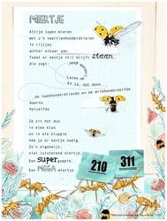 Poezieposter Plint Edward van de Vendel -Miertje Altijd lopen mieren me t z'n veertienhonderdvier Van de Vendel, Edward