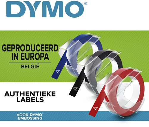 LABELTAPE DYMO 9MMX3M ROL ASS -LETTERTAPES S0847750