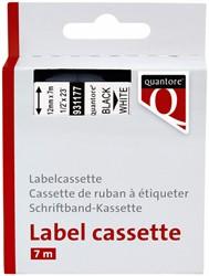 LABELTAPE QUANTORE 45013 12MMX7M -LETTERTAPES Q45013 WIT/ZWART