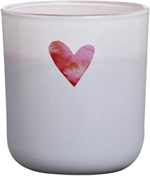 GEURKAARS IN GLAS BOLSIUS LOTS OF LOVE -CADEAUARTIKELEN 103625430481 90X83X83MM