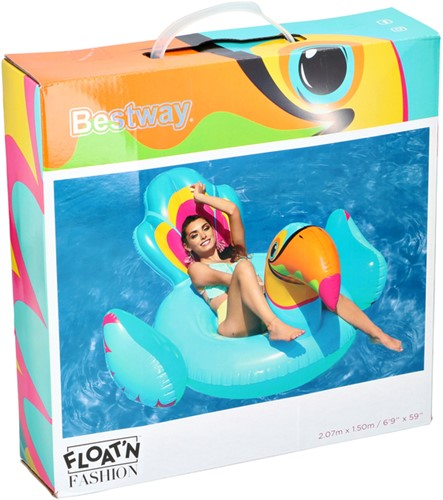 LUCHTBED BESTWAY TOUCAN 207X150CM RIDE -BRANCHE VERWANT 6942138959338 ON PVC