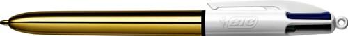 BALPEN BIC 4KLEUREN SHINE GOUD -BALPENNEN NAVULBAAR 964774
