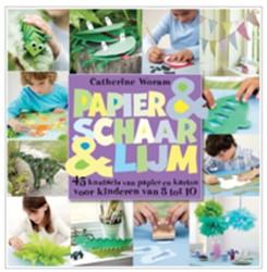 Papier en schaar en lijm -45 knutsels van papier en kart on - voor kinderen van 3 tot 1 Woram, Catherine