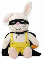 Rikki Zorro-pop -zacht knuffelpopje met Zorro c ape en masker, die je kunt aan Genechten, Guido Van
