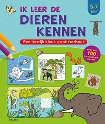 Ik leer de dieren kennen (5-7 j.) -een leerrijk kleur- en sticker boek ZNU