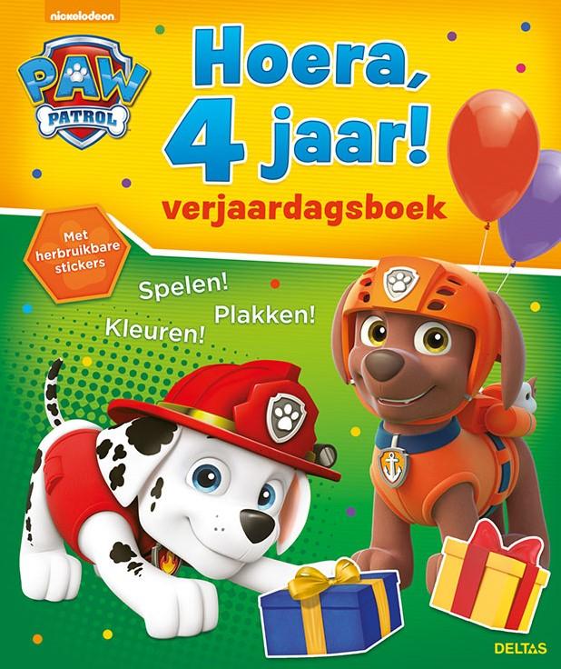paw patrol hoera 4 jaar verjaardag spelen kleuren