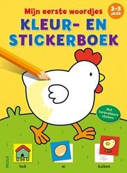 Mijn eerste woordjes kleur- en stickerbo -Met herbruikbare stickers ZNU