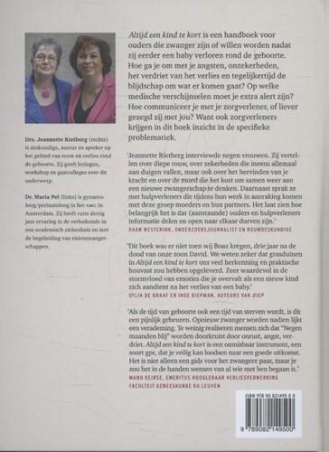 Altijd een kind te kort -handboek bij zwangerschap na b abysterfte Rietberg, Jeannette-2