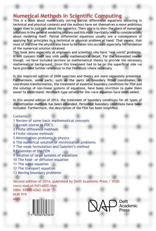 Numerical methods in scientific computin Kan, J  van