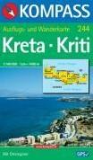 Kreta / Kriti 1 : 140 000 -Wandern, Ausfluge. Mit Ortsre gister. GPS-genau