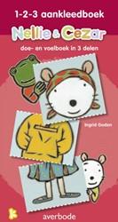 Nellie & Cezar 1-2-3 aankleedboek -doe en voelboek in 3 delen Godon, Ingrid