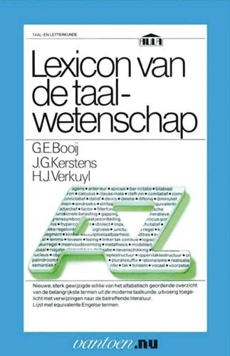 Lexicon van de taalwetenschap -BOEK OP VERZOEK Booij, G.E.