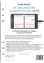De Organizing Agendavulling 2019 A5 -Verticale weekindeling over 2 pagina's Broekman, Vivianne