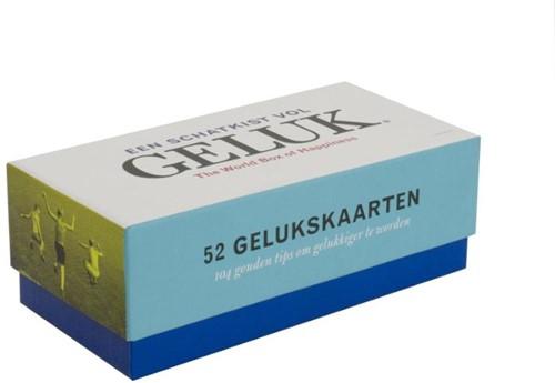 Een schatkist vol Geluk/The world box op -52 gelukskaarten/104 gouden ti ps om gelukkiger te worden Bormans, Leo