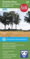 Falk VVV fietskaart 04 Drenthe-West 2017 -met Drents Friese Wold en Dwin gelderveld