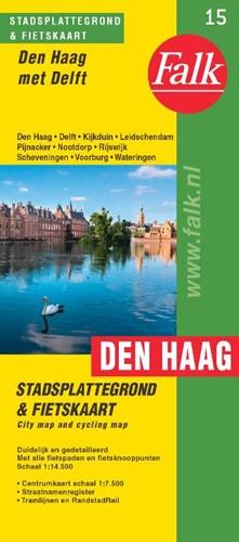 Falk stadsplattegrond & fietskaart D -met Delft Route.nl, Falk