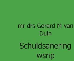 juristnet handboeken praktijk Schuldsane -handboek praktijk Duin, GM van
