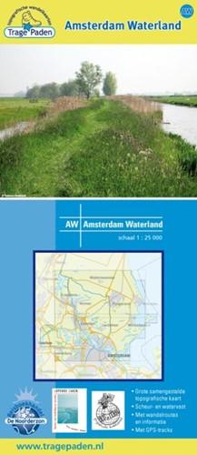 Amsterdam waterland -TOPOGRAFISCHE WANDELKAART 1:25 .000 Receveur, Leon