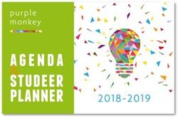 Purple Monkey Agenda en Studeerplanner -2018-2019 Cliteur, John