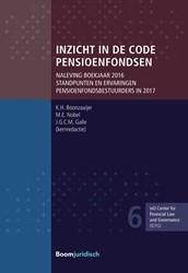 Inzicht in de Code Pensioenfondsen -naleving boekjaar 2016. Standp unten en ervaringen pensioenfo Boonzaaijer, K.H.