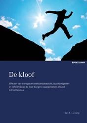 DE KLOOF -EFFECTEN VAN TRANSPARANT WELST ANDSTOEZICHT, BUURTBUDGETTEN E LUNSING, JAN R.