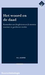 Het woord en de daad -kenmerken van dreigbrieven en de intenties waarmee ze geschr Kuiper, M.L.