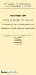 Preadviezen 2017 -Advisering door deskundigen in het bestuursrecht; Het vooron Opdebeek, Ingrid