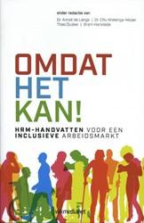 Inclusief HRM Beleid -HRM handvatten voor een inclus ieve arbeidsmarkt Lange, Annet de