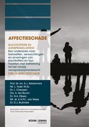 AFFECTIESCHADE -slachtoffers en aansprakelijkh eid. een onderzoek naar behoef AKKERMANS, A.J.