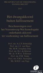 Preadviezen Vereeniging 'Handelsrec -beschouwingen over het Vooront werp Wet homologatie onderhand Bobeldijk, A.C.P.