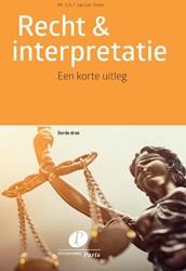Recht & interpretatie -Een korte uitleg Roest, O.A.P. van der
