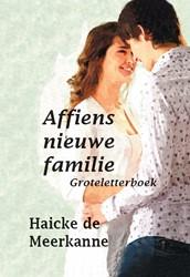 Affiens nieuwe familie - Groteletterboek -groteletterboek Meerkanne, Haicke de